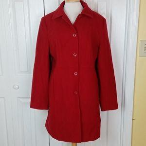 Metro Style red wool peacoat